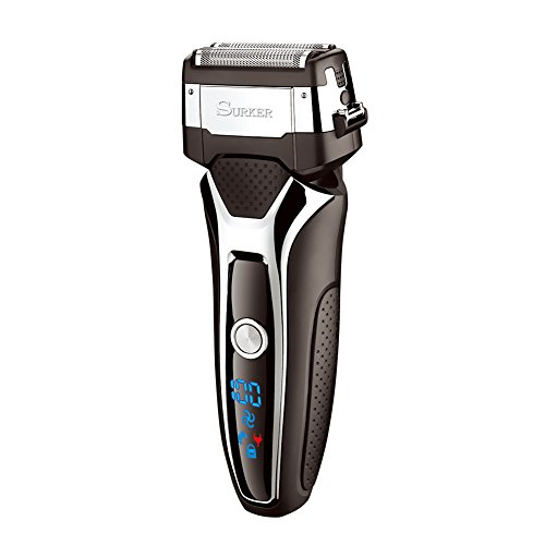 SURKER Beard Trimmer Men's Electric Foil Shavers Razor Electric Travel Shaver USB...