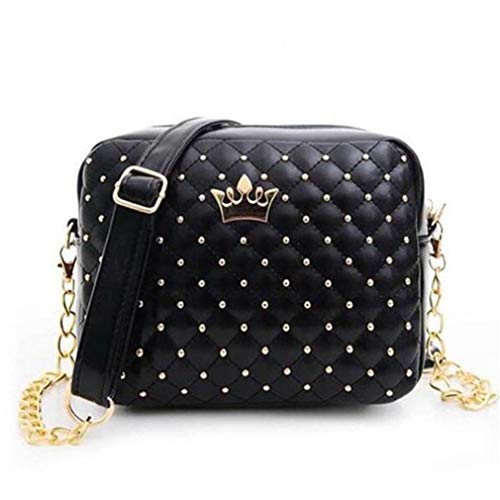 de Pink Mujeres Crossbody Hombro Chain Size Design One Bag Bolsas Rivet Mujeres Lavender x410wO0
