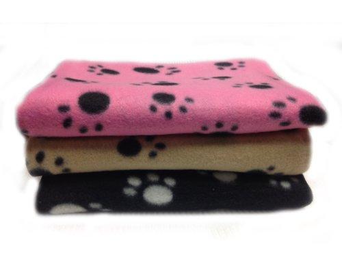 3 Colors Paw Print Dog Cat Pet Fleece Blanket Puppy Kitten Bed Soft Mat Car Seat Cove 100 X 140