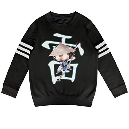 Slimerland Kid Mortal-Kombat-Raiden- Sweatshirt Long Sleeve Costumes for Boys Or -