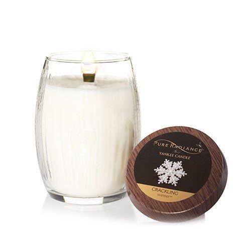 Yankee Candle Pure Radiance Medium Crackling LumiWick Vase Candle - Winter