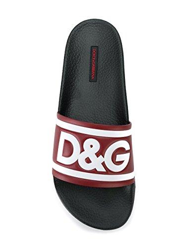 Burdeos Hombre Negro Dolce Sandalias CS1489AN2918T503 amp; Gabbana Goma CqExIwTx