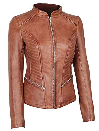 (BlingSoul Fashion Leather Jacket for Women | [1300172] Rachel, S )