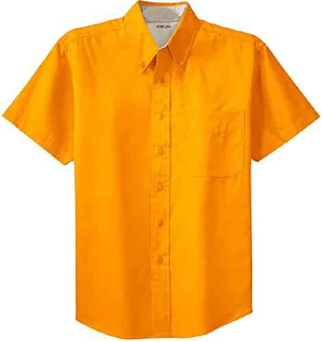 69a0e875 Joe's USA Men's Short Sleeve Wrinkle Resistant Easy Care Shirts in 32  Colors. Sizes XS