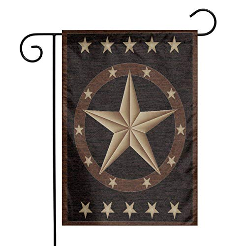 Sandayun88x Western Texas Star Home Garden Flag Vertical Double Sided Spring Summer Decorative Rustic/Farm House Small Decor Yard Flags Set Party Flag for Indoor & Outdoor Decoration 12.5 x 18 Inch