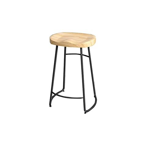 Amazon.com: Feifei Nordic Stool, Hip Seat Black Metal Legs ...