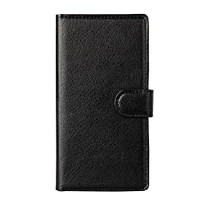 Sannysis Leather Wallet Pouch Flip Case For Sony Xperia Z3 Classic (Black)