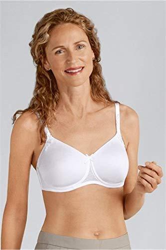 Amoena Women's Bianca Wirefree Pocketed Spacer Convertible Bra Bra, White, 38AA