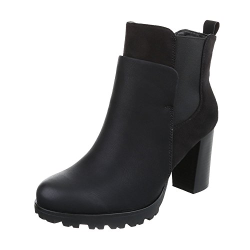 Ital-Design Women's Schlupfstiefel Black 0TMqVn3