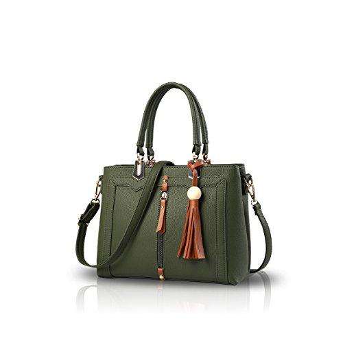 NICOLE&DORIS Bolso simple del bolso de Crossbody de las mujeres Verde