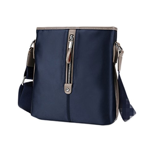 Los Hombres Ocasionales De La Manera Tela De Textura Oxford Handcarry La Cartera Del Bolso Blue3