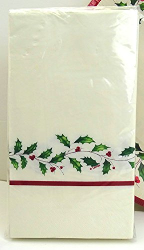 lx32g Lenox Holly Paper Guest Towels / Dinner Napkins, 32 Ct, Christmas (Holiday Nouveau Towel)