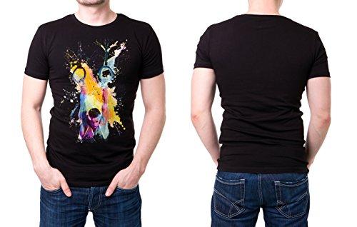 Turnen_XII schwarzes modernes Herren T-Shirt mit stylischen Aufdruck