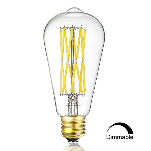 Leools LED Edison Bulb 15W,Dimmable Neutral White 4000K 1200LM, E26 Medium Base Lamp, ST21 (ST64) Antique Style Shape, 100-120W Incandescent Replacement, 1 Pack by Leools