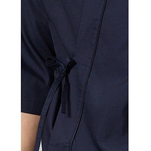 XINFU Sushi Chef Uniform 3/4 Long Sleeve Hotel Japanese Restaurant Kitchen Chef Coat by XINFU (Image #4)