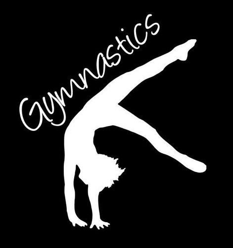 gymnastics car decal - 8
