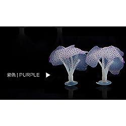 Beautiful Gel Aquarium Décor Coral Ornaments- Aquarium Fish Tank Fluorescent Soft Silica Gel Coral Décor