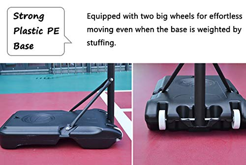Basketball Stand Height Adjustable w/Wheels 165-210cm (65'' to 83'') | Outdoor Basketball Hoop Stand Toy Set for Kids Toddler by Basketball Stand (Image #6)