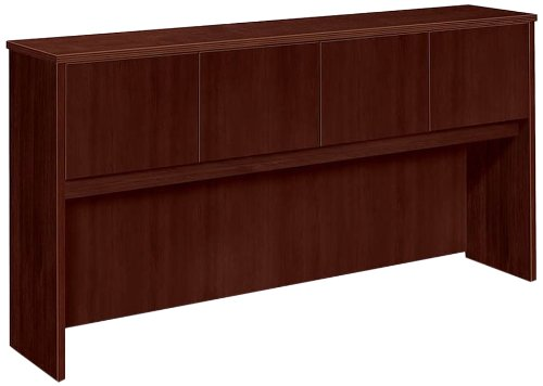 (Basyx Hutch with Doors, 72 by 14-5/8 by 37-1/8-Inch, Mahogany)
