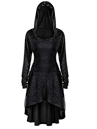 KENANCY Women Plus Size Hoodie Halloween Cloak Costume Robe Lace Up Pullover ()