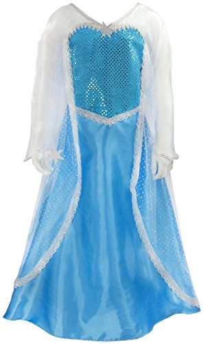 Creative Education Girls Elsa Ice Crystal Queen Costume, Small