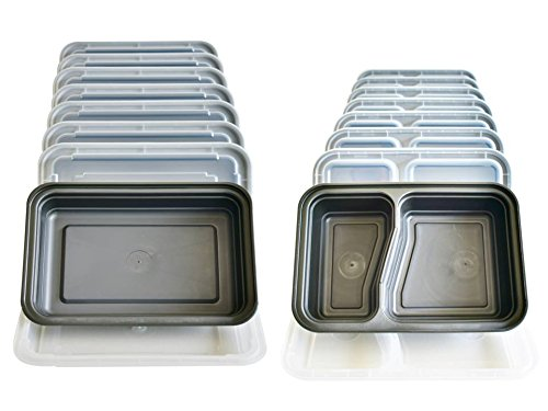UPC 709619022402, Yohino Variety Set of 16 Premium 1 Compartment (8) and 2 Compartment (8) Meal Prep Containers with Patented Triple Seal Leak Resistance