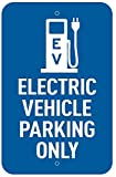 LilyPad EV - Electric Vehicle Parking Only Charging Sign - Aluminum - 12'' x 18''