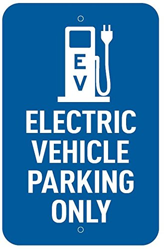 LilyPad EV - Electric Vehicle Parking Only Charging Sign - Aluminum - 12'' x 18'' by LilyPad EV (Image #1)