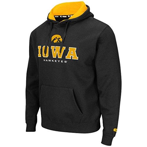 Colosseum Iowa Hawkeyes Mens Black Zone II Pullover Hooded Sweatshirt XX-Large