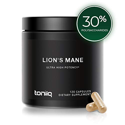 Ultra High Strength Lion's Mane Extract - 1800mg 10X Strength Pure Fruiting Bodies - Dual-Extracted Formula - 120 Capsules