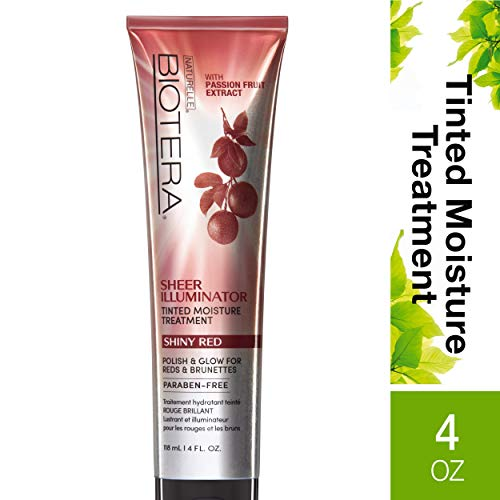 (Biotera Sheer Illuminator Shiny Red, with Passion Fruit Extract, Paraben-Free, 4-Ounce)