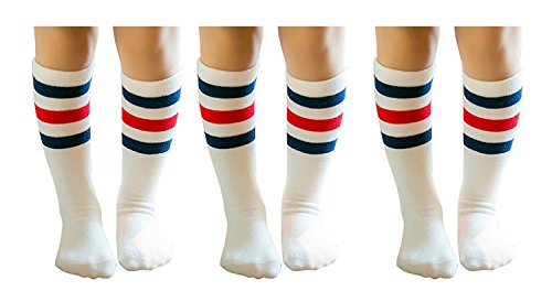 - PenGreat Knee High Toddler Socks Boys Girls Child Crew Striped Tube Socks 3 Pairs