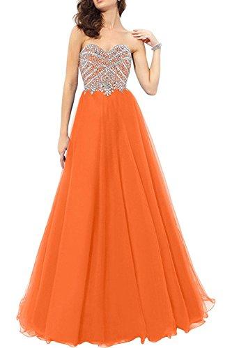 Tuell Ballkleider Rock Orange Damen Langes A Marie Promkleider Prinzess Abschlussballkleider Abendkleider Linie Braut La SCqIFxw0c