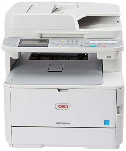 OKI Data MC362w Wireless Duplex Multifunction Color Laser Printer Print, Copy, Scan, Fax, 120V (120v Printer Laser)