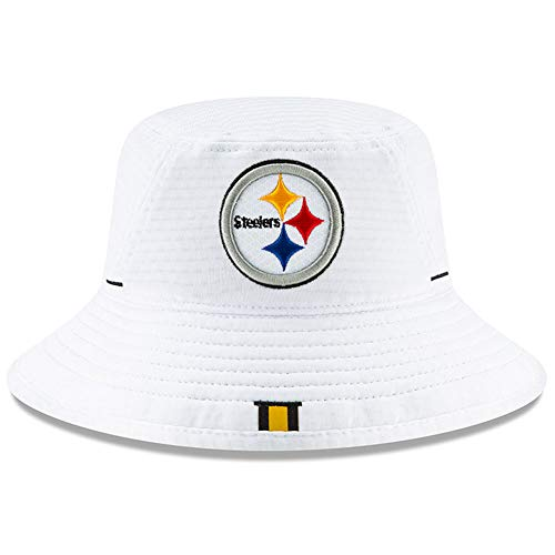 New Era Pittsburgh Steelers 2019 NFL Training Camp Official Bucket Hat - White