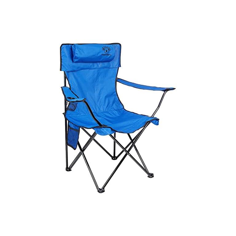 KingsizeKoala® Premium Campingstuhl | Anglersessel mit Getränkehalter | Leichter und langlebiger Angelstuhl | Perfekter…