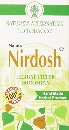 NIRDOSH HERBAL FILTER DHOOMPAN - Pack of 10 Cigs - Made with Ayurvedic Herbs