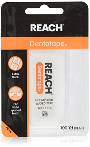 Dental Tape (REACH Dentotape Waxed Tape, Unflavored 100 Yards (Pack of 2))