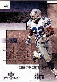 10 Performer - 2002 Upper Deck MVP Top 10 Performers #TT7 Emmitt Smith NM-MT Cowboys