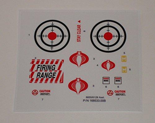 Gi Joe Decals (GI Joe Cobra Rifle Range Unit Sticker Sheet)