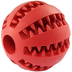 ORRIPOT Yvetel IQ Treat Ball [Chew Toy] for Dogs & Cats [Dental Treat][Bite Resistant] Durable Non Toxic- BPA Free-Strong Tooth Cleaning for Pet Training/Playing/Chewing