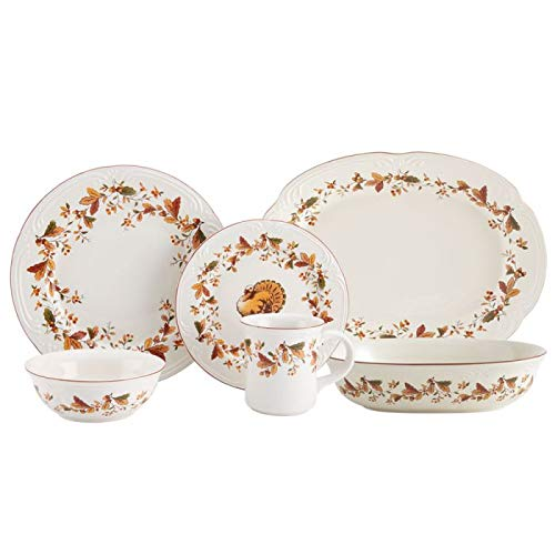 Pfaltzgraff Autumn Berry Service for 8 with Serveware
