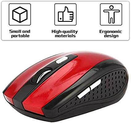 Wireless Optical Portable 1600DPI 2.4GHz 6D Gaming Mouse With USB Receiver ForPC