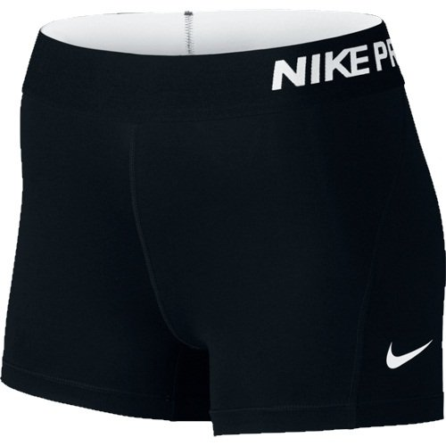 "Nike Women's Pro 3"" Cool Compression Training Short, Black/White, X-Small"
