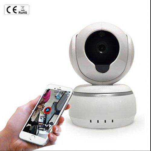 Innen Stereo Zwei Wege Audio Sicherheits IP Kamera,720p HD IR Abstand Nachtsicht Überwachungskamera IP Cam,Bewegungs Abfragung Infrarot IP Kamera Zum Gegensprechen,Alarmanlagen Für Hauptsicherheit/Büro/Garten/Garage,Intelligente Netzwerk Sicherheit Wifi IP Kamera