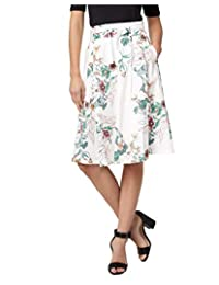 LE CHÂTEAU Floral Stretch Poplin Full Skirt for Women