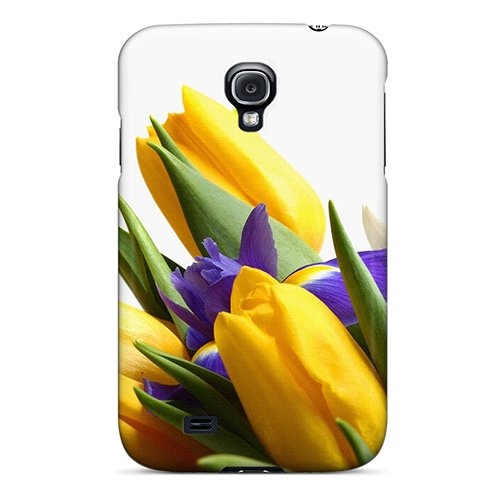Perfect Yellow Tulips Purple Iris Case Cover Skin For Galaxy S4 Phone Case