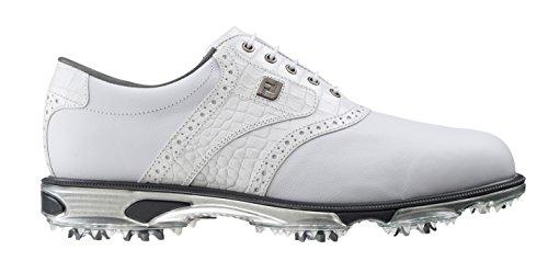 FootJoy Men's DryJoys Tour #53673 Golf Shoes White (9.0M)