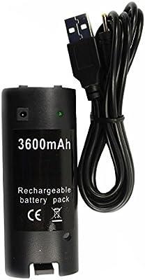 OSTENT 3600mAH Cable de cargador de batería recargable ...