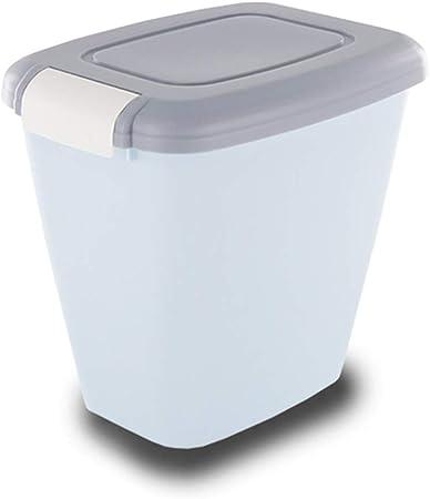 Jlxl Mascotas Contenedor Alimentos,Perro Comida Seca Almacenamiento Envase Gato Caja Salvaje Pájaro Semillas Container 4kg/15kg (Color : Gray, Tamaño : M 4kg): Amazon.es: Hogar